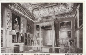 Middlesex Postcard - The King's State Bedchamber - Hampton Court - Ref A5472