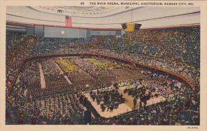 Missouri Kansas City The Main Arena Municipal Auditorium Curteich