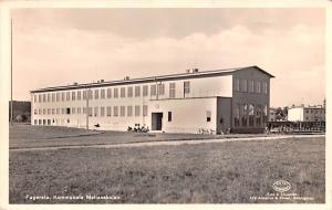 Sweden Old Vintage Antique Post Card Real Photo Fagersta Kommunala Mellanskol...