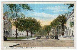 Concord, N.H., State Street, Looking North