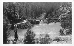 Eastman Lake Brittain Shasta California 1930s RPPC Photo Postcard 6145