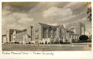 c1940 Real Photo PC Purdue Memorial Union Purdue University West Lafayette IN