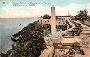old Cannons at Cabana Habana Cuba, Republica de Cuba 1929