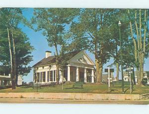 Unused Pre-1980 LIBRARY SCENE Boothbay Harbor Maine ME hs1904