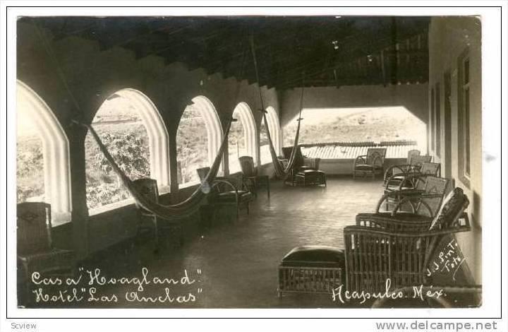 RP; Casa Hoagland, Hotel Las Anclas, Acapulco, Mexico, PU-1933