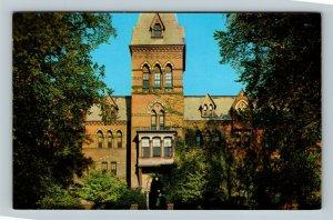 Ithaca NY, Sage Hall, Girls Dorm, Cornell University, Chrome New York Postcard