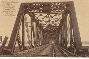 PORTLAND, Oregon, 1900-10s ; North Bank Railway Bridge