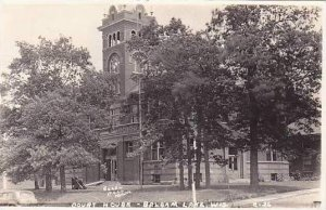 Wisconsin Balsam Lake Court House 1942 Real Photo RPPC