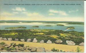Frenchman's Bay And Bar Harbor, From Cadillac Mt., Acadia National Park Maine