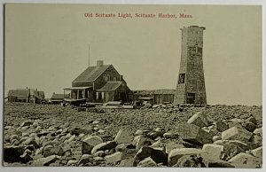 Divided Back Postcard Old Scituate Light Lighthouse, Scituate Harbor, MA Unused