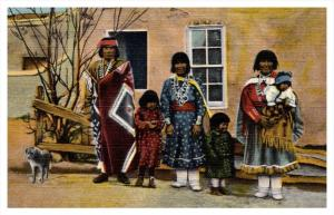 7378  Pueblo Indian Family  in Native Clothing