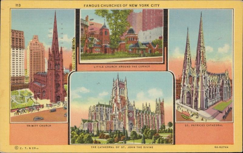 Famous Churches of New York City Trinity St John St Patrick's linen