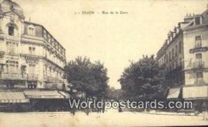 Dijon, France, Carte, Postcard Rue de la Gare Dijon Rue de la Gare