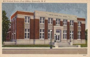 Post Office , GASTONIA , North Carolina , 30-40s