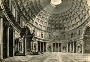 Italy - Rome. The Pantheon Interior   *RPPC