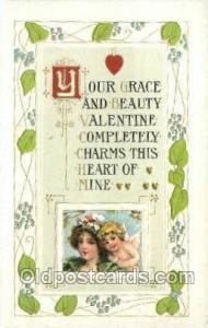 Valentines Day, Old Vintage Antique Postcard Post Card