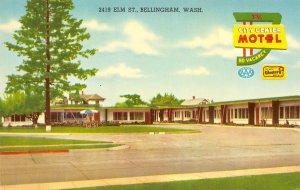 CITY CENTER MOTEL Bellingham, WA U.S. 99 Roadside ca 1950s Vintage Postcard