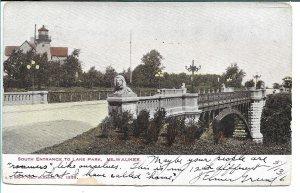 Milwaukee, WI - South Entrance to Lake Park - 1906