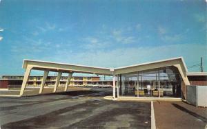 BALD KNOB, AR Arkansas  AMERICANA MOTEL White Co  ROADSIDE  1966 Chrome Postcard