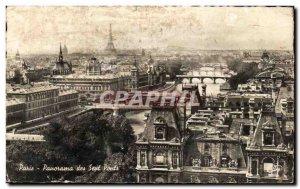 Old Postcard Panorama Paris Seven Bridges
