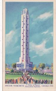 Chicago World's Fair 1933 Havoline Thermometer
