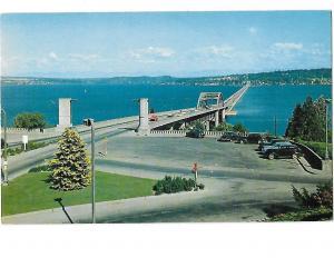 Lake Washington Floating Bridge Constructed of Concrete Pontoons Washington