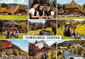 Schwarzwald Souvenir, Haus House Traditional Costumes Mill Muehle River