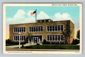 McCook NE, McCook Junior College, Vintage Nebraska Postcard