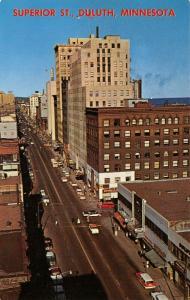 Duluth MN~Superior Street~Birdseye Greyhound Bus Depot~1950s Staion Wagon~Cars