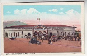 PC4 JLs postcards old cars bull ring in c. juarez mexico