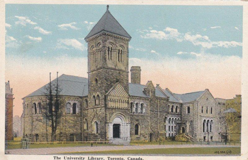 TORONTO, Ontario, Canada, 1910-1930s; The University Library