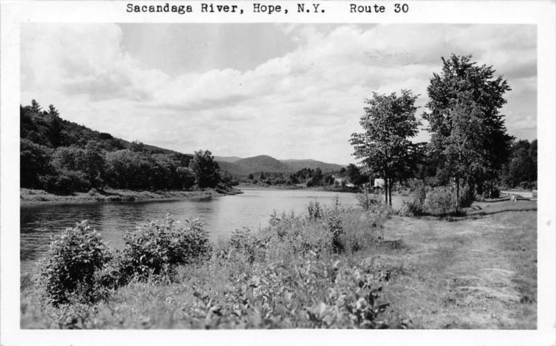 New York  Hope   Sacandaga River  Real Photo