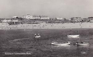 RP, BUDE , Devon , England , UK , 1940s ; Boating at Summerleaze