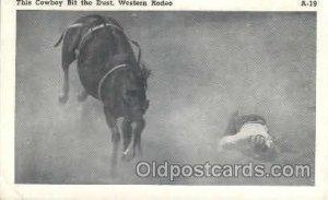 The Cowboy Bit the Dust Western Cowboy, Cowgirl Unused light crease left bott...