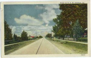 Linen Scene on U.S. 90, Jennings Louisiana LA 1951