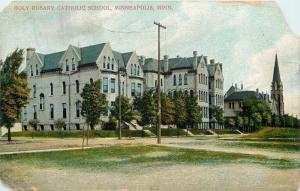 Minneapolis Minnesota~Holy Rosary Church And School~Not South High~1907 Postcard