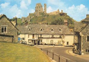 Dorset Postcard Corfe Castle from the Village by J. Salmon Ltd #122