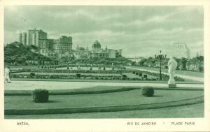 brazil, RIO DE JANEIRO, Praça Paris (1930s) Guanabara