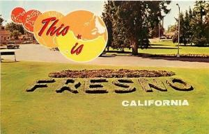 CA, Fresno, California, This is Fresno, Sign in Grass, Dexter Press No. 4127-C