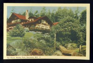 Vancouver, British Columbia, Canada Postcard, Tea House, Stanley Park