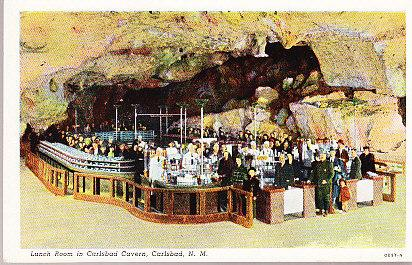 Lunch Room in Carlsbad Caverns - Carlsbad N.M.