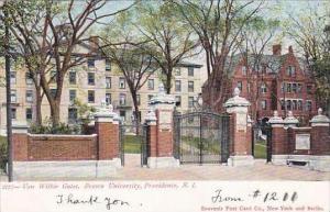 Rhode Island Providence Van Wilkie Gates Brown University