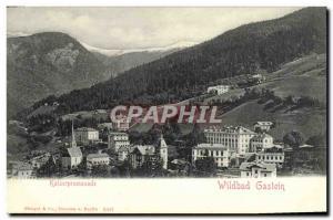 Postcard Old Kaiserpromenade Wildbad Gastein