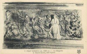 Postcard France Font Romeu la chapelle Maitre Autel cote Epitre