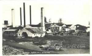 Cuba, Republica De Cuba Habana Sugar Mill at Work Real Photo