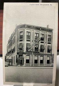 Vintage 40s Capital Hotel Morganfield Kentucky KY Postcard