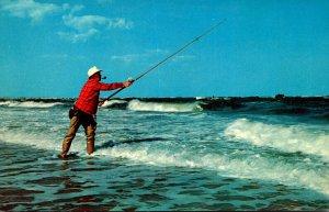 Fishing Surf Fishing Along The Shore Isle Of Palms South Carolina