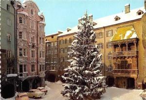 Innsbruck Helblinghaus und Goldenes Dachl Winter, Golden Roof, Auto Vintage Cars