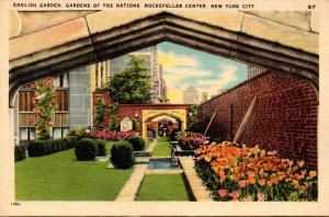 New York City Rockefeller Center English Garden Gardens Of The Nations