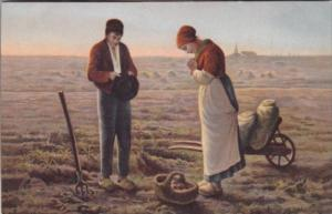 Couple Farmers Praying Over Crop